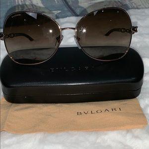 Bvlgari women's bronze crystal sunglasses